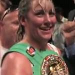Christy Martin celebrates win #49