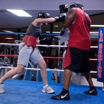 Coby and me sparring