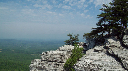 The view from Hanging Rock