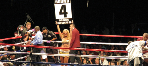 Boxing Ring Card Girls