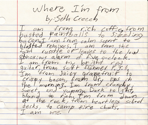 where i am from poem template - the maker where i m from the glowing edge