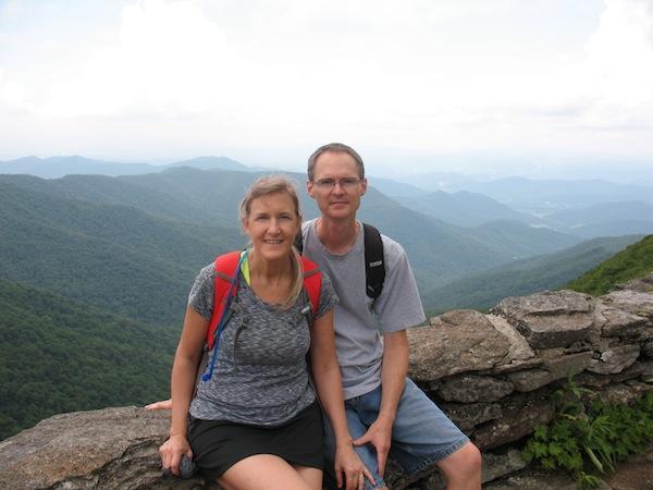 Lance and me at Craggy Pinnacle