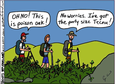 I actually had and used Tecnu. Didn't help. (Check out BootsMcFarland.com for great hiking comics!)