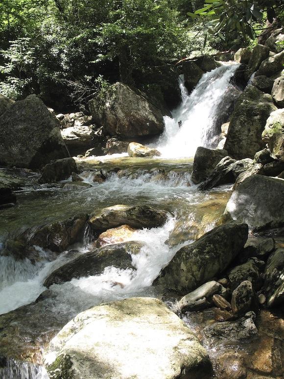 Skinny Dip Falls, Parkway mile marker 417